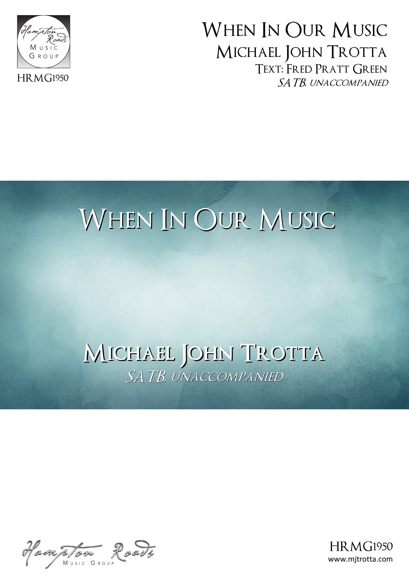 We Take Up the Task Eternal - Michael John Trotta