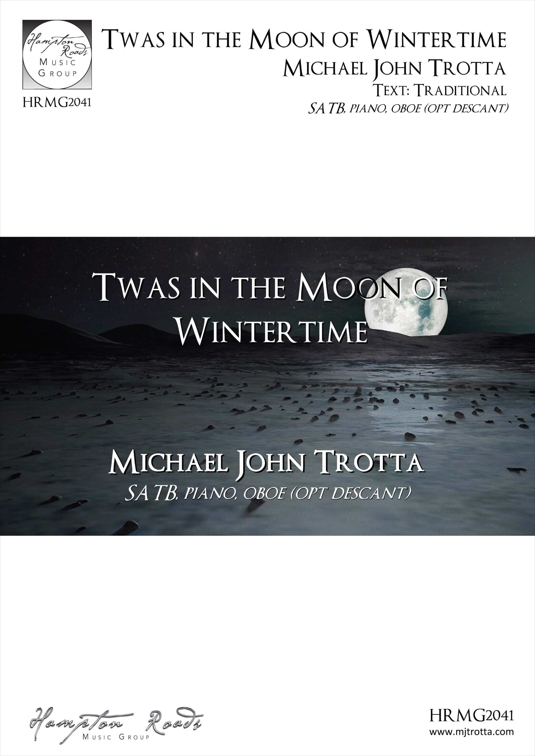 'Twas in the Moon of Wintertime - Michael John Trotta