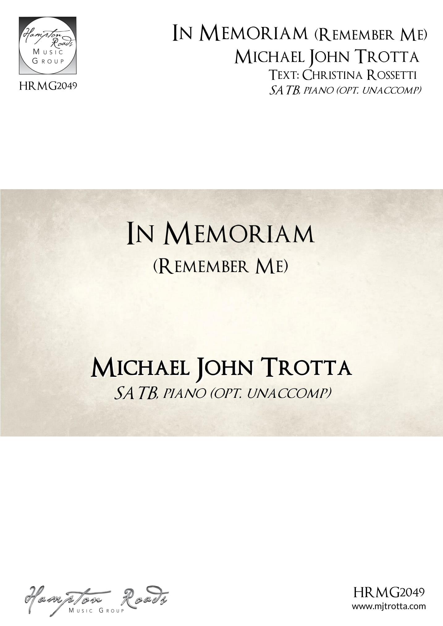 In Memoriam (Remember Me) - Michael John Trotta